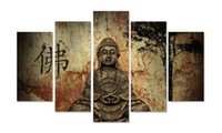 Wholesale buddha paintings living room for sale - Group buy modern home decorative living room wall decor Buddha Wall Art Picture printed figure oil Painting on Canvas art prints PT0276 Y18102209