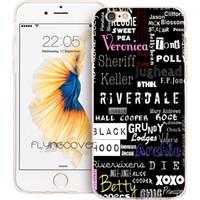 apfelfernseher schwarz großhandel-Coque Black American TV Riverdale Schutzhüllen für iPhone 10 X 7 8 Plus 5S 5 SE 6 6S Plus 5C 4S 4 iPod Touch 6 5 Durchsichtige weiche TPU-Silikonhülle.