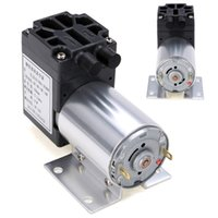 ingrosso pompa a pressione dc-1pz DC 12V 6W Mini Vacuum Pump 5L / min Pompe a diaframma ad alta pressione con supporto