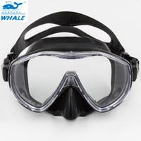 ücretsiz yüzme gözlükleri toptan satış-Profesyonel Temperli Tüplü Dalış Maskesi Gözlük Gözlük Ekipmanları Sualtı Avcılık Spor için Ücretsiz Dalış Yüzme Dalış Maskesi