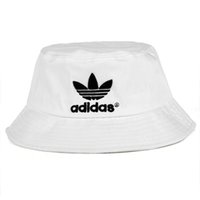 Wholesale party sun visors for sale - Group buy Hot Fashion AD bucket cap For Mens Womens Foldable Fishing Caps Black Fisherman Beach Sun Visor Sale Folding Man Bowler Cap