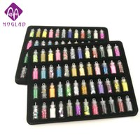 Wholesale glitter nail mini bottle for sale - Group buy 2018 Rushed Nail Glitter Powder New Bottles set Mini Colorful Sequins Series Nail Beads Acrylic Uv Gel Rhinestone Decoration