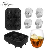 Wholesale Whiskey Tray - Lmetjma 3d Skull Silicone Ice Cube Tray Mold For Whiskey Cocktails Bpa -Free Skull Whisky Ice Stones Ice Mold Kc1011 -2