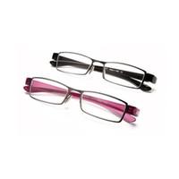 lila augengläser großhandel-Mode Lila Lady Lesebrille Frauen Magifiying Brillen Eye Reader + 1,0 ~ + 4,0 Maginifier Harz Linse Gläser Metallrahmen Neu