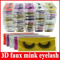 Wholesale Making 3d Logos - New 3D faux mink eyelash 100% Supernatural Lifelike handmade false eyelash 3D strip mink lashes thick fake faux eyelashes Makeup no logo