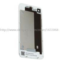 couverture iphone 4s blanc pomme achat en gros de-Couvercle de logement arrière pour porte de batterie Iphone 4S blanc noir