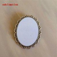 eski pin toptan satış-Süblimasyon için boş iğneler Antik gümüş takı moda retro vintage broş pin ısı Transferi için 30 * 40mm toptan
