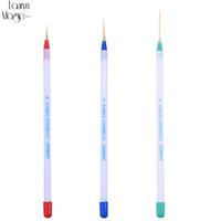 vernis à ongles brosse achat en gros de-3 Pcs / lot Nail Art Conseils Outils Polonais Dessin Stripe Liner DIY Ongles Dotting Brush