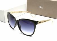 marcas gafas de sol niñas al por mayor-Gafas de sol de lujo del ojo de gato Gafas de sol de la marca Gafas de sol del diseñador de las mujeres Gafas de sol de moda Electro chapado gafas de sol 003