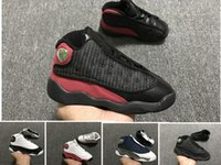 Wholesale j sports shoes resale online - Cheap J s Children Basketball shoes Boys Girls XIII Sneakers Youth GIFT Kids Sports Basketball Sneakers Toddlers Shoes
