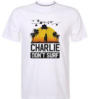 e8259a116 Charlie Dont Surf Apocalypse Now Film Movie T-Shirt Mens 2018 fashion Short  Sleeve Brand T Shirt O-Neck 100%cotton T-Shirt Tops