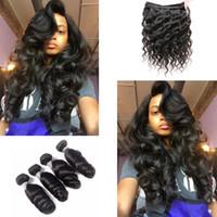 gevşek atkı saç uzantısı toptan satış-Perulu Gevşek Dalga Örgü İnsan Saç Atkı 100g Remy Saç Uzantıları 1 Adet / grup 12-26