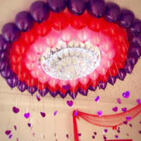 Wholesale free chinese lantern - 2018 Party Colorful Cheap Wedding Balloon 10 Inch Pearlized Round Circle Balloon 100pcs 1 Bags Pretty Decorations Free Shipping