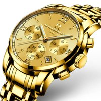 Wholesale Delicate Watches - Multifunction Waterproof Calendar Mens Watches Luxury Brand Luminous Quartz Mens Watches Business Delicate Stainless Steel Cool Wristwatch