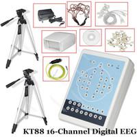 штатив штатива оптовых-CE Contec KT88 16-канальная цифровая система ЭЭГ Система картографирования компьютеров Программное обеспечение для ПК Штативы Мозговой картографический сканер