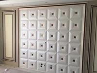 ingrosso pelle di muro-3D Faux PU pannelli in pelle 3D Wall Panel Decor Wall Stickers 3D Wallpaper fai da te Decorazioni da parete per soggiorno Kids Bedroom Decoration