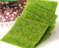 ingrosso tappeto erboso artificiale-15x15cm plastica quadrata tappeto erboso artificiale erba verde spesso falso tappeto erboso prato greensward 5.9