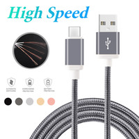 Wholesale Wholesale Cellphone Chargers - High Speed Type C USB Cable 1M 2M 3M for Android Customized High Speed Phone Charger Sync Data Cord for Android Cellphones