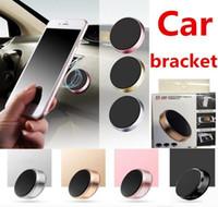 hücre araba montajı toptan satış-Sıcak Sopa Manyetik Araç Tutucu Evrensel Mini Cep Telefonu Araba Düz Bağlar Perakende Paketi Ile iPhone X 8 7 6 Artı Samsung S9