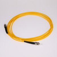 Wholesale fiber optic patch cords resale online - ST to ST Fiber Optic Jumper UPC Singlemode um Simplex m Factory Minor Customization FTTH Patch Cord