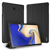 flip cover schlaf großhandel-Schlanker PU-Leder-Schlaf Wake Up Flip Case für Samsung Galaxy Tab S4 10.5 T380 T385 Registerkarte A2 10.5 T590