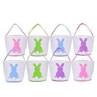 Wholesale Blue Bunny Ears - Easter Bunny Baskets DIY Rabbit Bags Bunny Storage Bag Jute Rabbit Ears Basket Easter Gift Bag Rabbit Ears Put Easter Eggs YYA1221