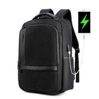 рюкзаки пейсли оптовых-Повседневная противоударный USB зарядки мужчины компьютер сумка анти кражи рюкзак Оксфорд водонепроницаемый ноутбук рюкзак школьный мешок большой емкости