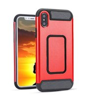 Wholesale carbon black packaging - For Iphone X Car Magnetic Shockproof Case Carbon Hybird Cellphone Cover For iPhone X 8 7 6 Plus Samsung S8 Plus Moto G4 Plus RETAIL PACKAGE