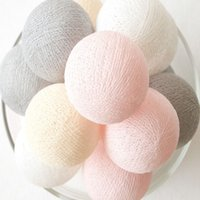 Wholesale artificial roping resale online - Halloween Pvc Cotton Balls Rope Led Sweet Ball Lights String Home Garden Fairy Lamp Wedding Patio Party Decoration Luminous Lights