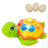 Wholesale Lay Egg - EFHH Electric Univeral Wheels Turtle Can lay eggs With Flashing and Sound Educational Toys