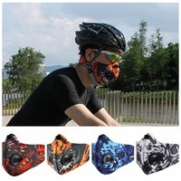 Wholesale Running Face Mask - Sports Masks Men Women Activated Carbon Dust Proof Cycling Half Face Mask Bicycle Bike Dustproof Running Comfortable scarves GGA340 20PCS