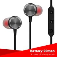 ear headphones sound al por mayor-Auriculares inalámbricos de Bluetooth Auriculares magnéticos de deporte para auriculares inalámbricos de teléfono En oído buena cancelación de ruido de sonido
