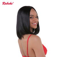 full lace wigs under 2018 - Brazilian Bob Full Lace Human Hair Wigs Pre Plucked Rabake Bobs Full Lace Wig Cap Natural Black Baby Hair for African American Women