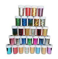 arte do prego x venda por atacado-4 cm x 120 cm New Fashion Mix cores Folha de Transferência de Nail Art Set Nail Tip Decoração 3d nail stickers 66 Estilos Frete Grátis