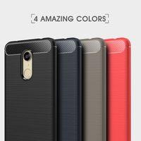 ingrosso custodia paraurti 4s-Cover in TPU con design in fibra di carbonio e cornice per paraurti per Xiaomi Redmi Note 3 4 4X 4S S2 5A Pro