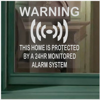 Wholesale Safety Warning Sign - NEW 6Pcs HOME Security-24hr Alarm System Warning Sign Decorative Mirrors Internal PVC Sticker 87x87mm Home Security Safety