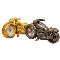 ingrosso sveglia da tavolo al quarzo-Sveglia del fumetto del motociclo di plastica di colore 4, decorazione domestica del mestiere di arte orologio al quarzo Orologio elettronico sveglia del regalo dei bambini