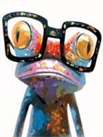 Wholesale frog animal figures for sale - 16x20 inches Cool Frog Brother DIY Paint On Canvas drawing By Numbers Kits Art Acrylic Oil Painting Frame For Adult Teen