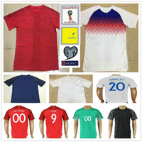 Wholesale Shirt S - 2018 England World Cup Jersey 10 ROONEY KANE BARKLEY STURRIDGE STERLING HENDERSON VARDY HART ALLI Home Away Soccer Football Jerseys Shirts