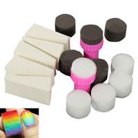 esponja para pulir las uñas al por mayor-2017 Profesional 1 Unidades Nail Art Sponge Gradual Cambio Sello Estampado Polaco Herramientas de Manicura Esponjas de Uñas