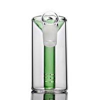 ingrosso impianti petroliferi a olio 18.8-Cestello portacenere da 18 mm blu verde 45 gradi 18,8 mm per narghilè bong in vetro riciclato per olio rig dab rig bong pipa acqua pipe
