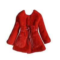 Wholesale girl elegant coats - Luxury faux fur coats fashion winter jacket for girls baby clothes parka elegant clothing baby girl outerwear coat