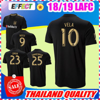 Wholesale new waterproof - NEW Arrived 2018 LAFC Carlos Vela Soccer Jerseys 18 19 Home GABER ROSSI CIMAN ZIMMERMAN Black Primary TOP Quality Football Shirts
