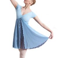 trikotanzug ballett tanz großhandel-Himmelblau Ballett Kleid Frau Body schwarz Gymnastik Trikot für Tanz Ballett Trikots für Frauen tanzen Praxis Kleidung