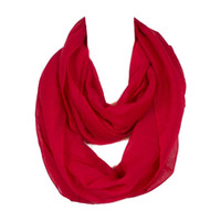 Wholesale infinity scarves online - New Fashion Women Infinity Scarf Design With Colors Solid Voile Polyester Winter Warm Lady Ring Loop Scarf Size cm