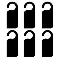 ingrosso manopole di camere da letto-Porta Knob Hanger Lavagna in legno Segni Promemoria Lavagna per la casa Camera da letto Ufficio Bar Hotel utilizzare bordo di legno multifunzionale