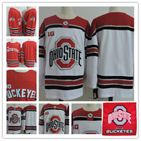 Wholesale Red Tens - Mens NCAA BIG TEN Ohio State Buckeyes Hockey Jerseys Stitched Ohio State Buckeyes College Jerseys S-3Xl