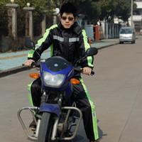 motocicleta de una pieza al por mayor-Paseo al aire libre mono de una pieza de la motocicleta capa de lluvia pantalones de lluvia setthickening batería del coche de una pieza a prueba de agua