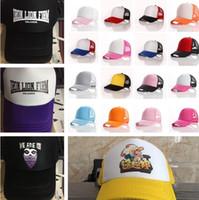 e374cabde31 Trucker Cap Adult Mesh ball Caps Blank Snapback Hats Accept Custom Baseball  cap for Adult Sun hat Party Hats Custom LOGO T1C331-3