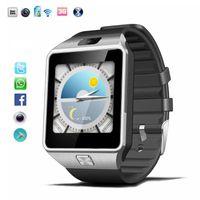3g смартфон смотреть оптовых-3G Smartwatch телефон Android 4.4 MTK6572 двухъядерный Bluetooth QW09 WIFI смарт-часы высокого качества с розничной коробке